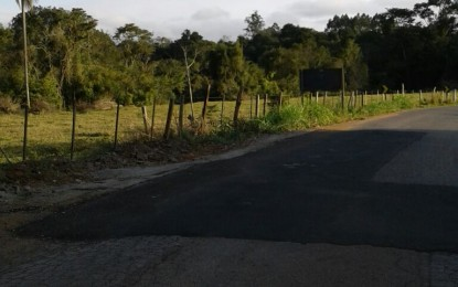 Recuperação da rodovia Faxinal –Guarei é concluída