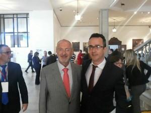 Jorge Paulo, à direita, e o secretário de Educação do Estado José Renato Nalini.