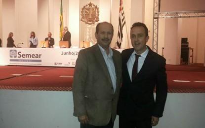 Prefeito Luiz Antônio Machado e secretário da Educação Jorge Paulo participaram de seminário do TC em São Paulo  no qual gestores debateram projetos inovadores em Educação