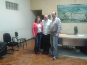 Magali, deputado Flavinho e prefeito