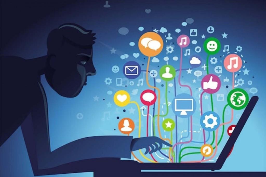 O vazio causado pelas redes sociais desenho