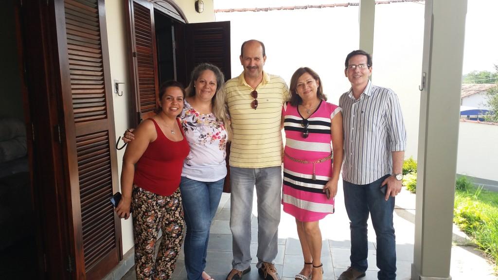 Katrin, Fabiana, prefeito, Magali e Luiz Fernando