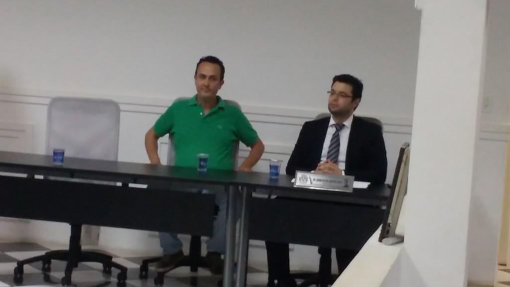 Secretário municipal da Educação Jorge Paulo e vereador Bruno