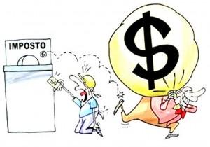 Ricos pagam muito menos impostos desenho