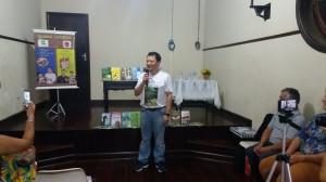 Élcio, no último mês de março na Casa da Cultura, no lançamento da 3ª Caravana Literária.