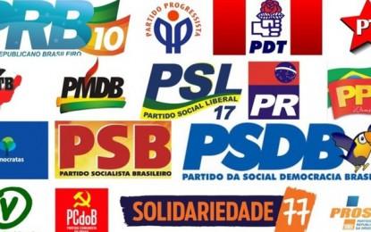 Sete partidos detêm quase dois terços do número de eleitores filiados