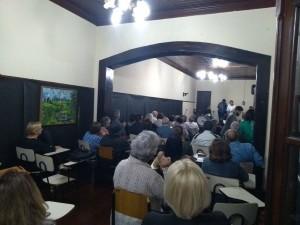 Público no I Sarau Lítero Musical, em abril.