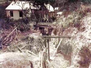 Trincheira da época da Revolução, em Itararé, na divisa com o município paranaense de Sengés.