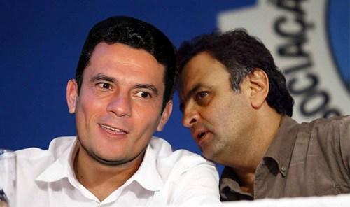 Sérgio Moro e o amigo Aécio Neves