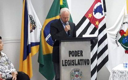 Homenagem ao médico José Ângelo Alvarez Ibarrola no discurso do ex-prefeito José Emilio Carlos Lisboa