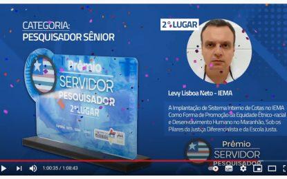 Angatubense Levy Lisboa Neto é um dos vencedores do Prêmio Servidor Pesquisador concedido pelo Governo do Estado do Maranhão