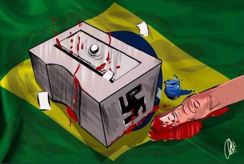 O brasil nazista na charge de jornal da Síria